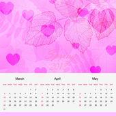 Pagina van de agenda van de lente van 2013 nieuwjaar vector — Stockvector