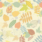 Vintage autumn seamless pattern vector — Vettoriale Stock