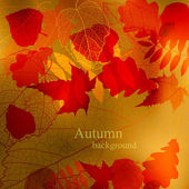 Abstract cute autumnal background vector — Vettoriale Stock