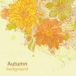 Orange autumn perfect background vector — Stock Vector