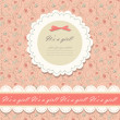 Color pink floral background vector — ベクター素材ストック