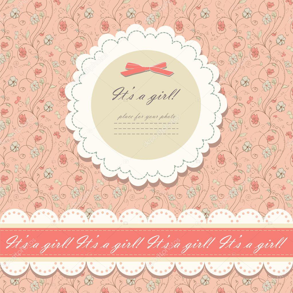 Vetor de fundo floral rosa cor — Vetores de Stock #12262982