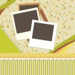 Abstract banner retro card vector — Imagen vectorial