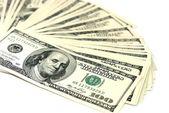 Dollars isolated on white — Stock Photo