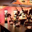 Stock Photo: Nightclub interior - flower decoration