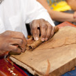 Stock Photo: Cigar making