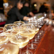 Wineglasses on bar counter — Stock Photo #12206318
