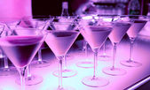 Welcome drink in a night club - bar counter — Stock Photo