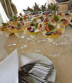 Arrangement of banquet table — Stock Photo