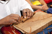 Cigar making — Stock Photo