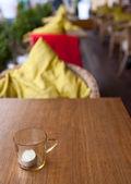 Patio restaurante vacío — Foto de Stock