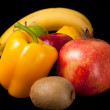 Arrangement of fresh fruits and vegetables — Stock Photo