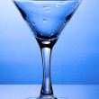 Wet empty martini glass — Stock Photo