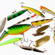 Set of fishing tackles - Stockfoto
