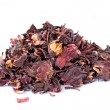 Hibiscus tea on white - Lizenzfreies Foto
