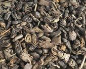Dry green tea background — Stockfoto