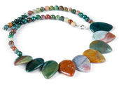 Necklace made of semi-precious gems — Stock Photo