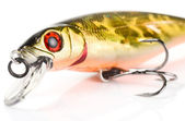 Fragment of plastic fishing lure — Stock Photo