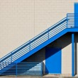 Blue Metal Stairway — Stock Photo