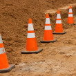 Construction Cones — Foto de Stock