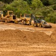 图库照片: Earthwork Site and Equipment