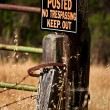 Posted No Trespassing Keep Out Sign — Foto de Stock