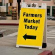 Farmers Market Sign - Sandwich Board — Foto de Stock