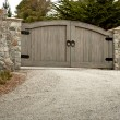 Stock Photo: Residential Driveway Gate