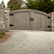 Residential Driveway Gate — Stock Photo