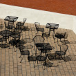Stock Photo: Outdoor Cafe Tables and Chairs