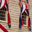 Bunting over Windows — Foto Stock