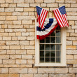 Foto Stock: Bunting over Windows