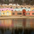 Stock Photo: Colorful Beachfront Lodge