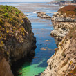Stock Photo: Narrow Coastal Inlet