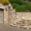 Stock Photo: Stone Stairway and Garage