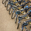 Stock Photo: Bicycles Parked in Row