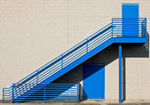 Blue Metal Stairway — Photo