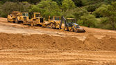Earthwork Site and Equipment — Stock Photo