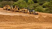土工作業サイトと機器 — ストック写真