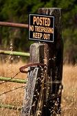 Publikováno žádný přestupek udržet znamení — Stock fotografie