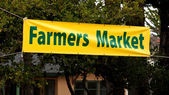 Farmers Market Banner — Stock Photo
