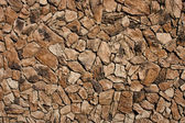 Faux Lava Rock Siding — Stock Photo
