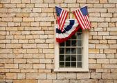 Bunting over windows — Stockfoto