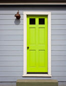 Bright Green Door — 图库照片