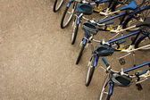 Bicycles Parked in a Row — Zdjęcie stockowe