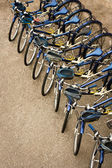 Bicycles Parked in a Row — Foto Stock
