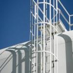 Water Storage Tank Ladder — Stock Photo