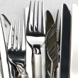 Stock Photo: Forks and knifes