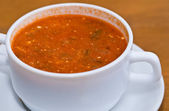 Soup in cup — Stock Photo