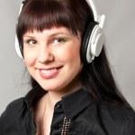 Woman with headphones — Stock Photo #12517180